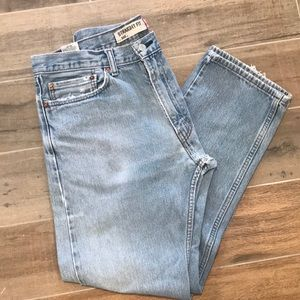 Levi's 505 Distressed Red Tab Straight Fit Jeans